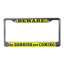 ZOMBIES ARE COMING License Plate Frame