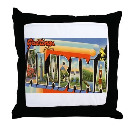 Alabama AL Throw Pillow