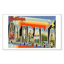 Alabama AL Rectangle Decal