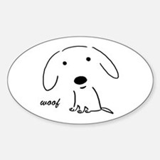 Little Woof Oval Bumper Stickers