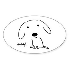 Little Woof Oval Decal