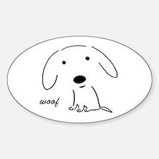 Little Woof Oval Stickers