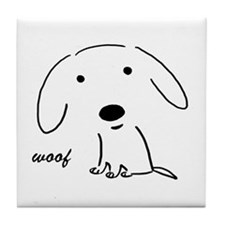 Little Woof Tile Coaster