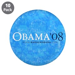 """Obama '08 3.5"""" Button (10 pack)"""