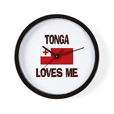 Tonga Loves Me Wall Clock