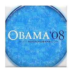 Obama '08 Tile Coaster