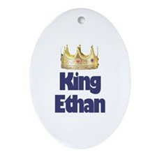King Ethan Oval Ornament