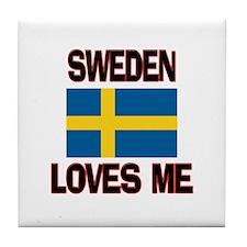Sweden Loves Me Tile Coaster