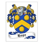 Hope Family Crest Small Poster