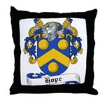 Hope Family Crest Throw Pillow