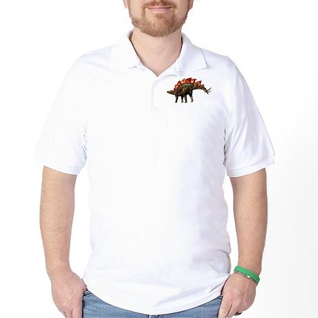 Stegosaurus Jurassic Dinosaur Golf Shirt