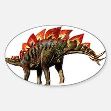 Stegosaurus Jurassic Dinosaur Oval Decal