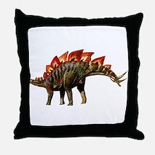 Stegosaurus Jurassic Dinosaur Throw Pillow