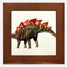 Stegosaurus Jurassic Dinosaur Framed Tile