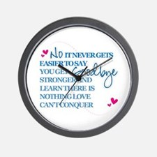 Good Byes Don't get Easier Wall Clock