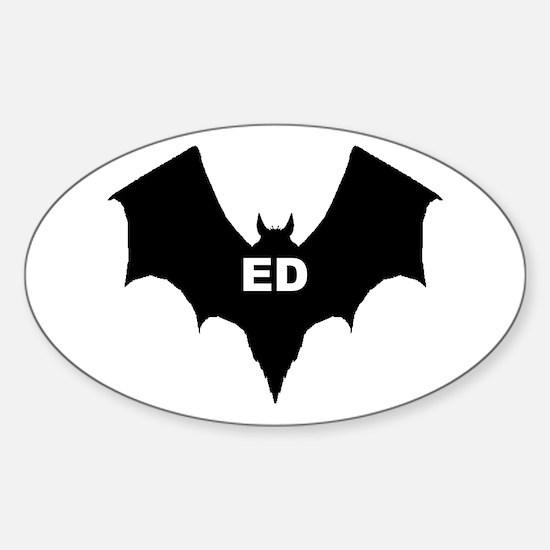 BLACK BAT ED Oval Decal