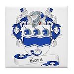 Horn Family Crest Tile Coaster
