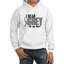 I Wear Grey For My Aunt 10 Hoodie