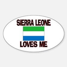 Sierra Leone Loves Me Oval Decal