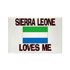 Sierra Leone Loves Me Rectangle Magnet