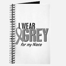 I Wear Grey For My Niece 10 Journal