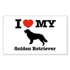 I love my Golden Retriever Rectangle Decal