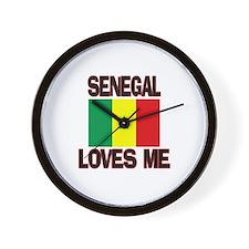 Senegal Loves Me Wall Clock