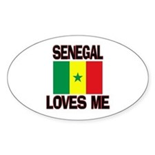 Senegal Loves Me Oval Decal