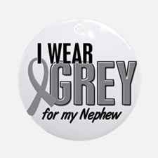 I Wear Grey For My Nephew 10 Ornament (Round)
