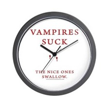 Vampires Suck Wall Clock