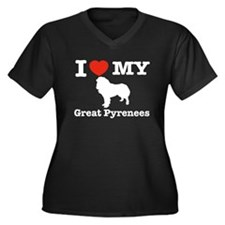 I love my Great Pyrenees Women's Plus Size V-Neck
