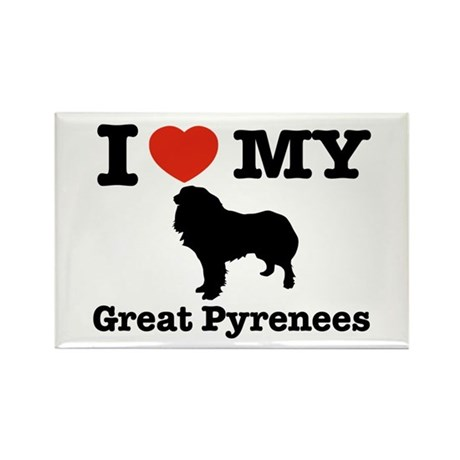 I love my Great Pyrenees Rectangle Magnet (100 pac