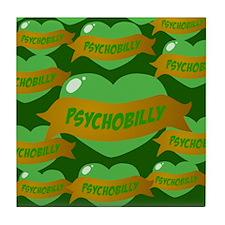 Psychobilly Heart Tile Coaster