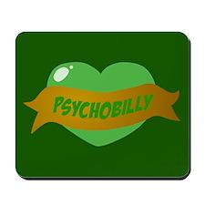 Psychobilly Heart Mousepad