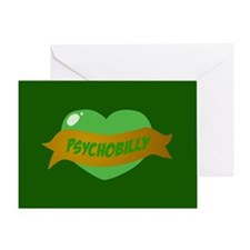 Psychobilly Heart Greeting Card