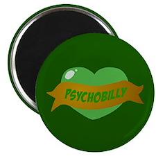 Psychobilly Heart Magnet