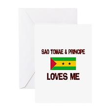 Sao Tomae & Principe Loves Me Greeting Card