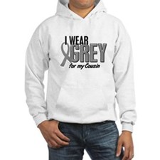 I Wear Grey For My Cousin 10 Jumper Hoody