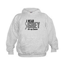 I Wear Grey For My Cousin 10 Hoody