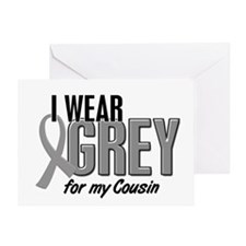 I Wear Grey For My Cousin 10 Greeting Card