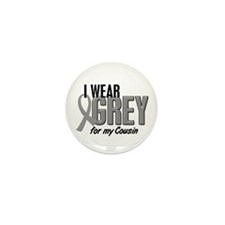I Wear Grey For My Cousin 10 Mini Button (10 pack)