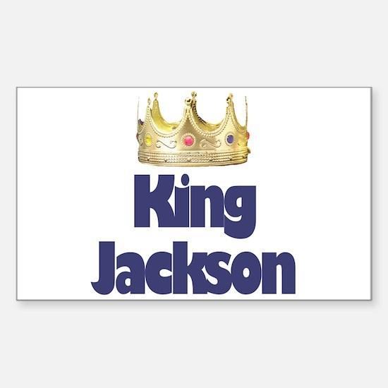 King Jackson Rectangle Decal
