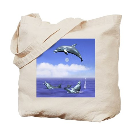 Dolphin Jump Day Tote Bag