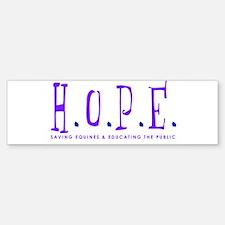 HOPE Horse Rescue Bumper Bumper Bumper Sticker