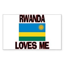 Rwanda Loves Me Rectangle Decal
