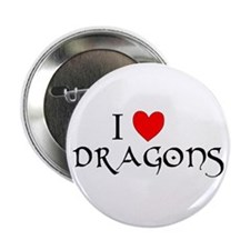 """I Love Dragons 2.25"""" Button (10 pack)"""