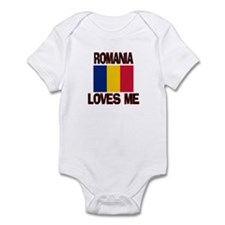 Romania Loves Me Infant Bodysuit
