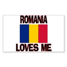 Romania Loves Me Rectangle Decal