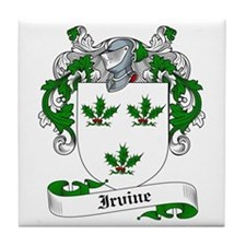Irvine Family Crest Tile Coaster