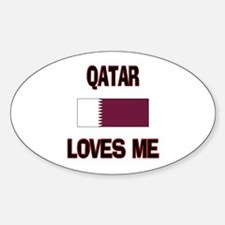 Qatar Loves Me Oval Decal